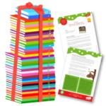 Bokpaket och handledningar illustration bokhög